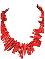 Colar apelativo JANE STONE Moda Coral florido para as Mulheres