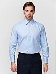 bleu clair 100% coton chemise solide