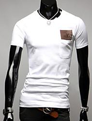 INMUR Herren Rundhals T-Shirt Stickerei