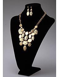 Rich Long Ellipse Debris Elegant Necklace And Earring Suit YL00417