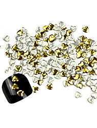 300PCS 3D Golden Love-heart Alloy Nail Art Golden&Silver Decorations