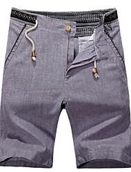 Männer ethnischen Stickereien Shorts