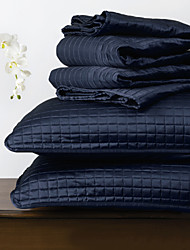 huani® Quilt-Set, 3 Stück plaid navy Polyester