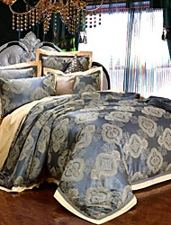 4-Piece Rome Style Jacquard Polyester Duvet Cover Set