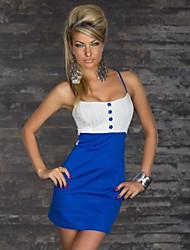 Sexy Corset vestido ocasional del verano Diseño Remiendo de la Mujer
