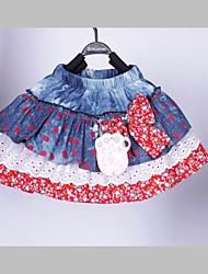 Moda Bella scozzese Little Flower Pattern ragazza di disegno per bambini gonna