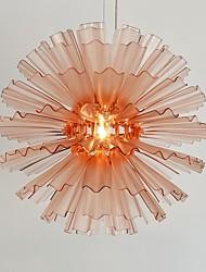 UMEI™  Acrylic Pendant, 1 Light, Brown Acrylic Iron Plating