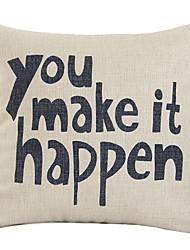 Люблю тебя, потому Вы Make It Happen декоративным покрытием Подушка