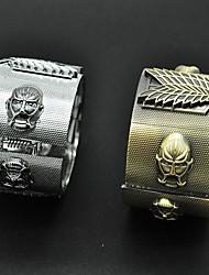 Schmuck Inspiriert von Attack on Titan Cosplay Anime Cosplay Accessoires Armbänder Weiß / Gold Legierung Mann