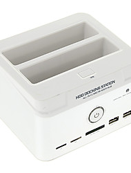 """CP-895U2ISC All-in-1 2.5"""" 3.5"""" IDE/SATA/Esata HDD Hard Drive Docking with Card Reader (White)"""