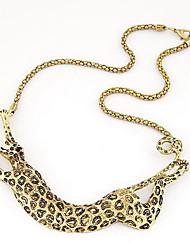 Kushang Colar de Metal New Leopard