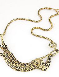 Kushang Металл Нью Leopard ожерелье
