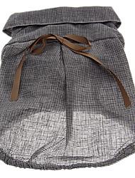 Schwarz-Weiß-Gitter-Muster-Hemd mit Bowknot für Haustiere Hunde (verschiedene Größen)
