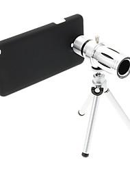 Zoom 12X Teleobjetivo metal Celular lente con el trípode para Samsung Note3