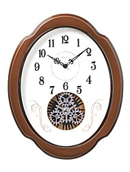 "15""H Retro Classical Gear Style Wall Clock"