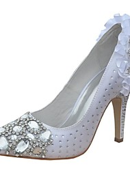Bombas de las mujeres de la boda del satén de tacón de aguja con diamantes de imitación zapatos (más colores)