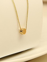 Vintage Jewelry Mini Charming Gold Plated Round Design Pendant Necklace Fashion Accessories