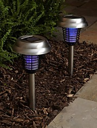 1 PC Solar Stainless Steel Mosquito Zapper Stake Light Garden Path Lighting