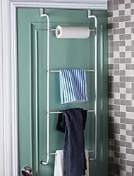 Tablettes orange ® 1Placez Bars Salle de bain serviettes de salle de bain porte Racks crochet de toilettes L40 * 3 * H110CM