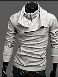 Men's Pure Color Long Sleeve Sweater