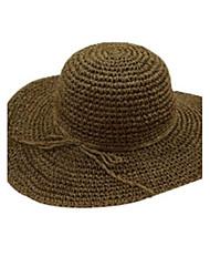 Capeline Chapeau de Paille Chapeau de soleil Eté Décontracté Paillette Femme