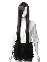 Capless Coaplay Synthetic Black Long Party Wig
