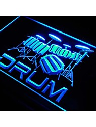 j551 Band Room Drum Rock n Roll Music Neon Light Sign