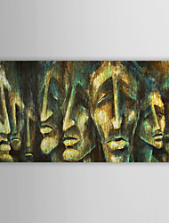 Hand Painted Oil Painting People Man's Face with Stretched Frame