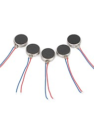 DIY   1027 Flat Vibrating Vibration Motor - Silver (5 PCS)