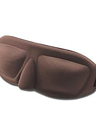 Máscara Eye 3D suave respirável Seamless Preto dormir (cor aleatória)