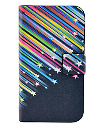 Meteor Shower Pattern PU Leather Case with Magnetic Snap and Card Slot for Samsung Galaxy S3 mini I8190