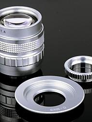 50mm F1.4 CCTV Lens + Macro Anneaux + C-M4 / 3 Adaptateur Bague pour Olympus / Panasonic M Caméra etc - Argent