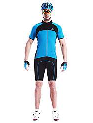 MYSENLAN Bike/Cycling Jersey / Tops Men's Short Sleeve Breathable / Quick Dry / Wearable / Windproof Cotton / 100% Polyester White / Blue