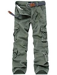 Men's Outdoor Loose Multi Pocket Maximal Code Camouflage Cotton Long Pants