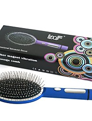 Loof Electric Vibrating Massage Hair Brush Comb for Blood Circulation Blue(1 x AA)