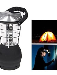 36 LED White Lights Hand Crank Solar Lantern Camping Lamp with Charger