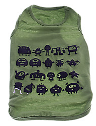 Cute Monsters Pattern Vest for Pets Dogs (Assorted Colors, Sizes)
