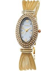 Time100 Lady's  Fashion Egypt-style Alloy Band Diamond Jewelry Clasp  Dress Quartz Watch