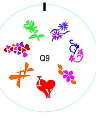 Red Heart Design Silicone Nails Arts Stamping Plates Image Gift For Lovers And Wife