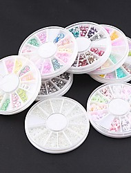 8PCS Wheel Nail Art Rhinestone Kit Within  Dotting Tool & 5 Nail Glue