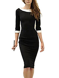 S&Z Women's Doll collar Black Dress