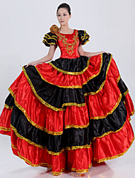 Royal Queen of Costume ethnique de l'Espagne Red Polyester Femmes