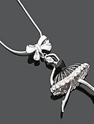 Ballet Girl Fashion Collier avec pendentif en alliage (1 PC)