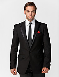 Blue&Black Polyester Tailored Fit Two-Piece Tuxedo
