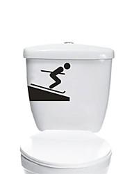 Pessoas Esquiador WC Postado Wall Stickers