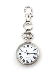 Unisex rundes Muster arabischen Ziffern Quartz Metallic Schlüsselbund Uhr