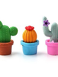 Cute Cactus Eraser Set School Stationery (12-Pack)\