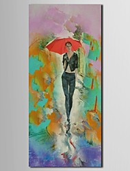 Hand Painted Oil Painting People  Male Model with  Antivir in His Hand with Stretched Frame