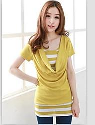 Dames col Stripe T-shirt