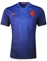 2014 copa del mundo camisetas de la copa del mundo países bajos visitar azul juego